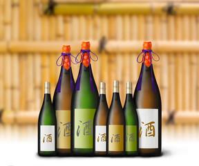 日本酒のボトルイメージ