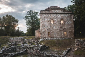 Historic Bali beg mosque building in the city of Niš in southern Serbia
