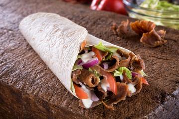 Doner Donair Kebab Wrap