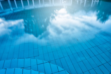 sunset blue water pool background
