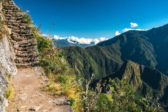 Trail to Montana Machu Picchu UNESCO World Heritage Site in Peru