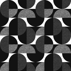 Black and white geometric modern seamless pattern