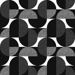 Zwart-wit geometrisch modern naadloos patroon
