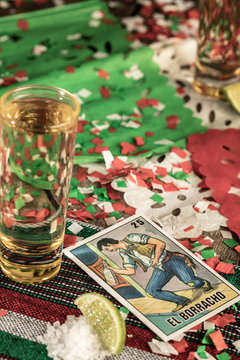 detail of tequila shot