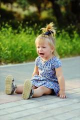 crying toddler girl