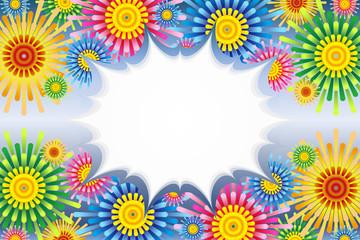 #Background #wallpaper #Vector #Illustration #design #clip_art #free_size concentration line,comic,speed line,speech bubble,balloon,cloud line ベクターイラスト背景素材,フラワー,セリフフキダシ,無料,花柄の模様,宣伝広告ポスター,打ち上げ花火