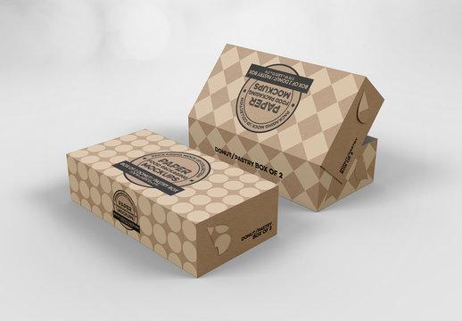 2 Pastry Box Mockups