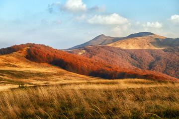 Beautiful mountains landscape during autumn