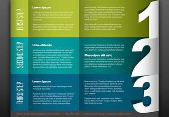 3-Step Horizontal Infographic Layout