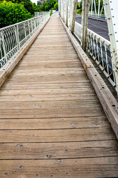 Wooden Sidwalk on a Bridge