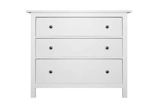 House furniture - Modern white commode isolated