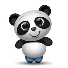 cute cartoon panda toy illustration