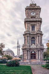 Fototapete - Dolmabahce Clock Tower in Istanbul