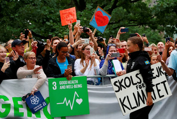 Swedish 16-year-old activist Greta Thunberg completes her trans-Atlantic crossing in order to attend a United Nations summit on climate change in New York