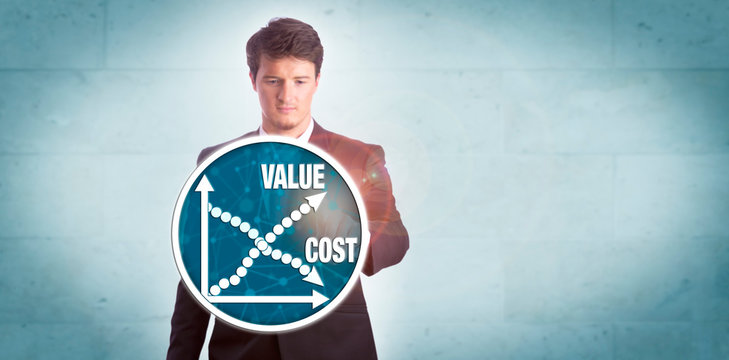 Man Analyzing Value Growth Versus Cost Reduction