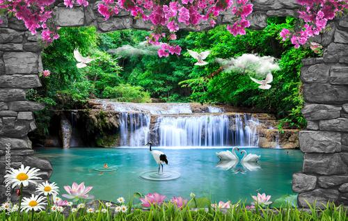 Fototapete 3d Nature Wallpaper And Background Stone Brick Fototapeten Furkan