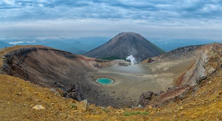 Top of the mount Meakan. Active volcano in Akan Mashu national park, Hokkaido, Japan Fototapete