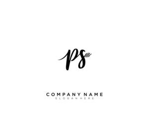 PS Initial Handwriting Logo Template Vector