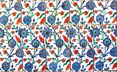 Seamless floral Islamic pattern of the Ottoman era