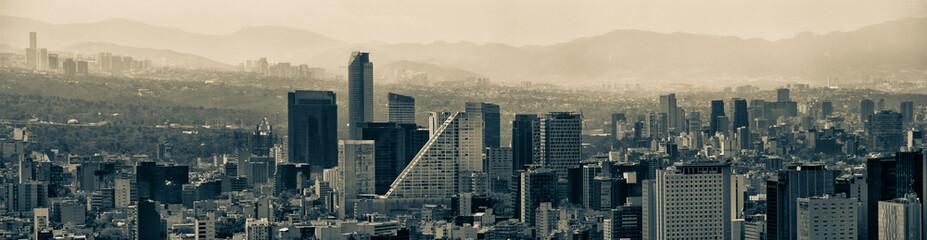 Mexico City Panoramic Skyline Cityscape Papier Peint