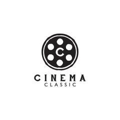 Movie film company logo design template