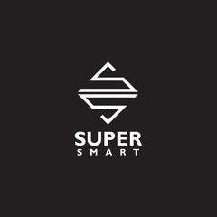 SS letter initial logo design vector template