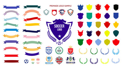 Soccer, football logo templates Creation Kit
