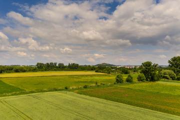 Luftbild der Landschaft in Süddeutschland