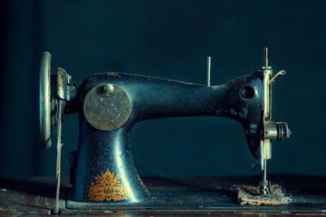 sewing, old sewing machine, vintage things