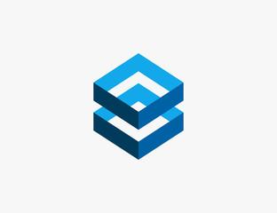 Abstract Hexagon Logo Design Vector Illustration