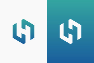 Letter H Logo Template Design Vector Illustration