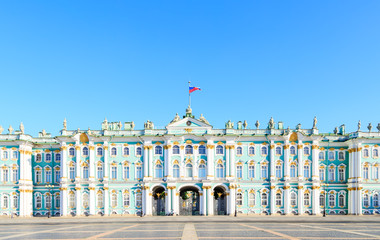 St. Petersburg, Russia. State Hermitage Museum. View from the Palace Square