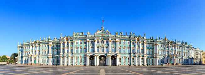 St. Petersburg, Russia. State Hermitage Museum. View from the Palace Square Fototapete