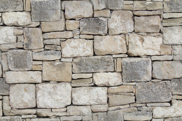 Dry stone wall as seamless background Fotobehang