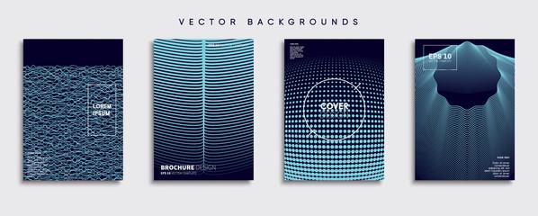 Minimal Vector cover designs. Future Poster template. Fototapete
