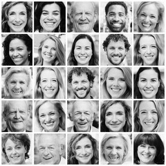 Portraits of beautiful commercial people