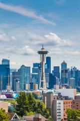 Wall Mural - A view of Seattle from Kerry Park on Queen Anne Hill
