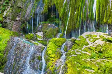 Obraz Horrid and waterfalls of the Boncic. Taipana. Udine, Friuli. Italy - fototapety do salonu