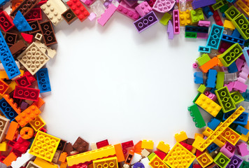 Colored toy bricks with place for your content.