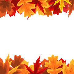 Autumn Natural Leaves Background. Vector Illustration EPS10