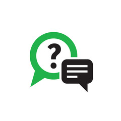 Question answer chat icon design. Consulting help sign. Vector illustration.
