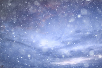 sky snow background clouds / abstract background gray winter sky, weather snowfall