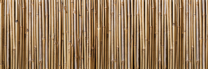 Wide Bamboo Wood Wall Fence Pattern