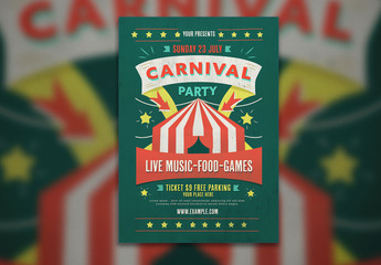 Carnival Event Graphic Flyer Layout