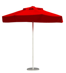 Beach umbrella - red