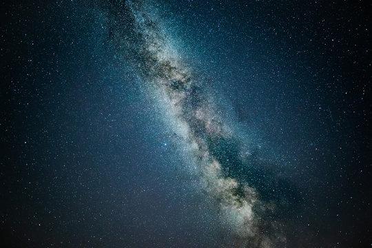 Milky way stars shot taken in darkest part of Poland