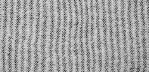panorama of grey fabric background and texture with copy space