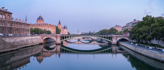 Fototapete - Panoramic View of early Paris - France