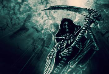 Grim Reaper. Wall mural