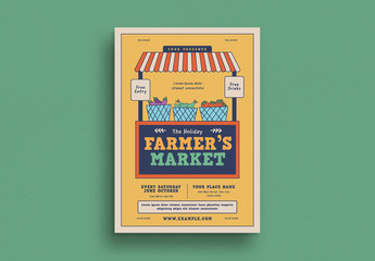 Farmers Market Event Graphic Flyer Layout